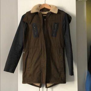 Lacoste woman's lined winter coat